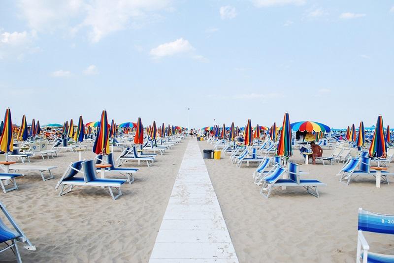 Пляжи в Римини (Италия)